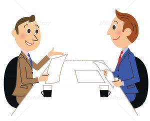 商談するビジネスマン